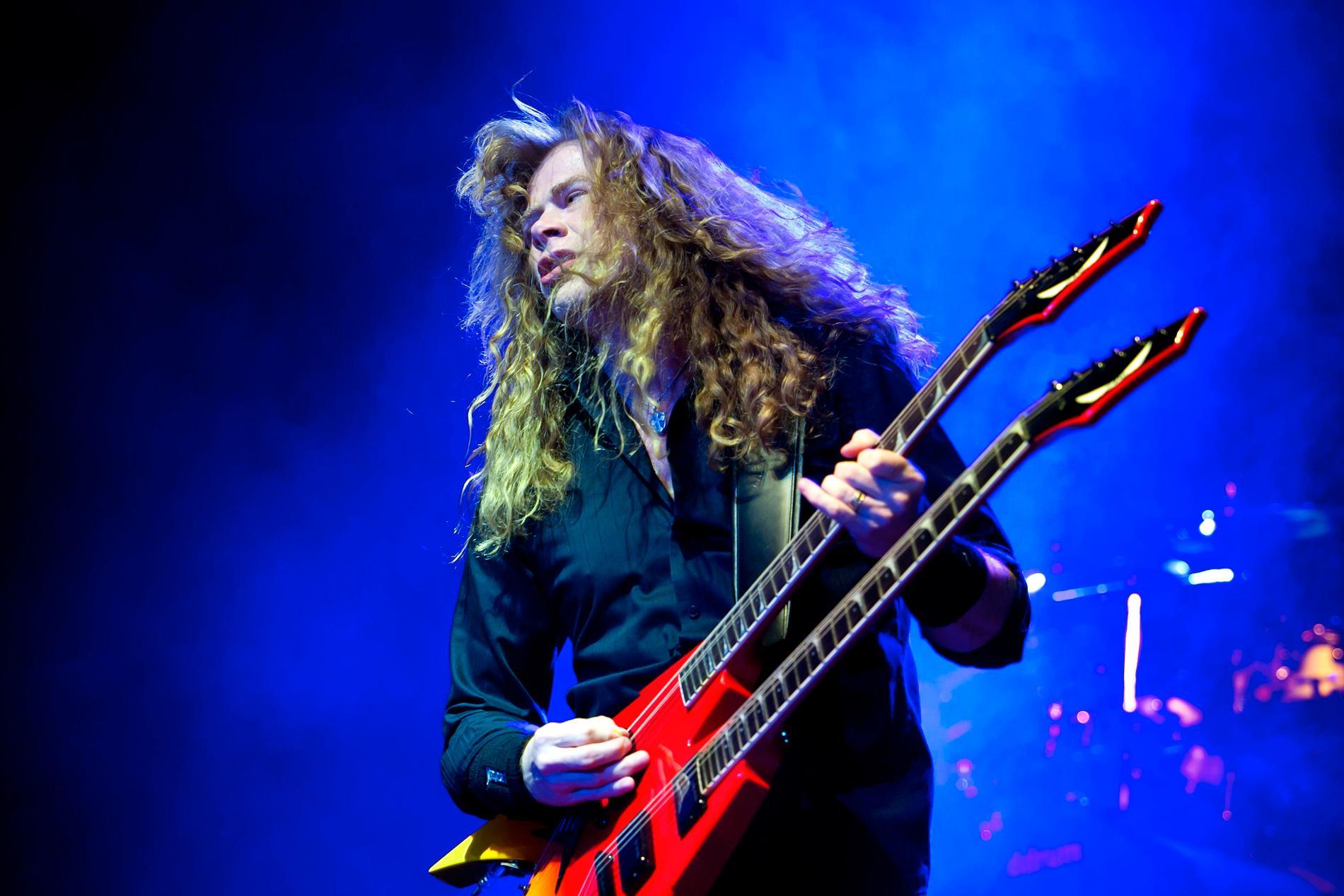 Dave Mustaine på scen med Megadeth. Arkivbild.