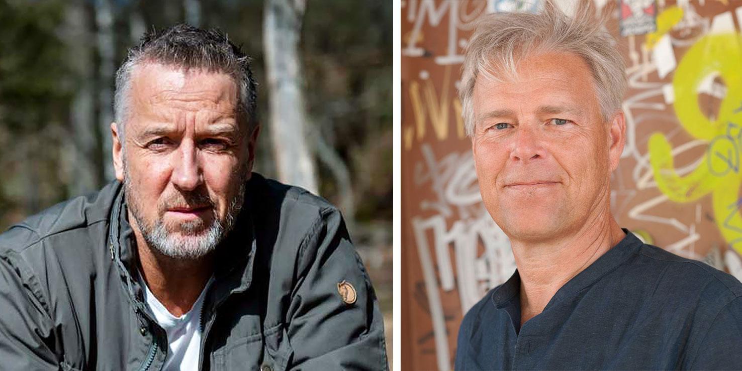 Vännerna Tommy Söderström och Arne Talving tävlar tillsammans i Aktie Manager.