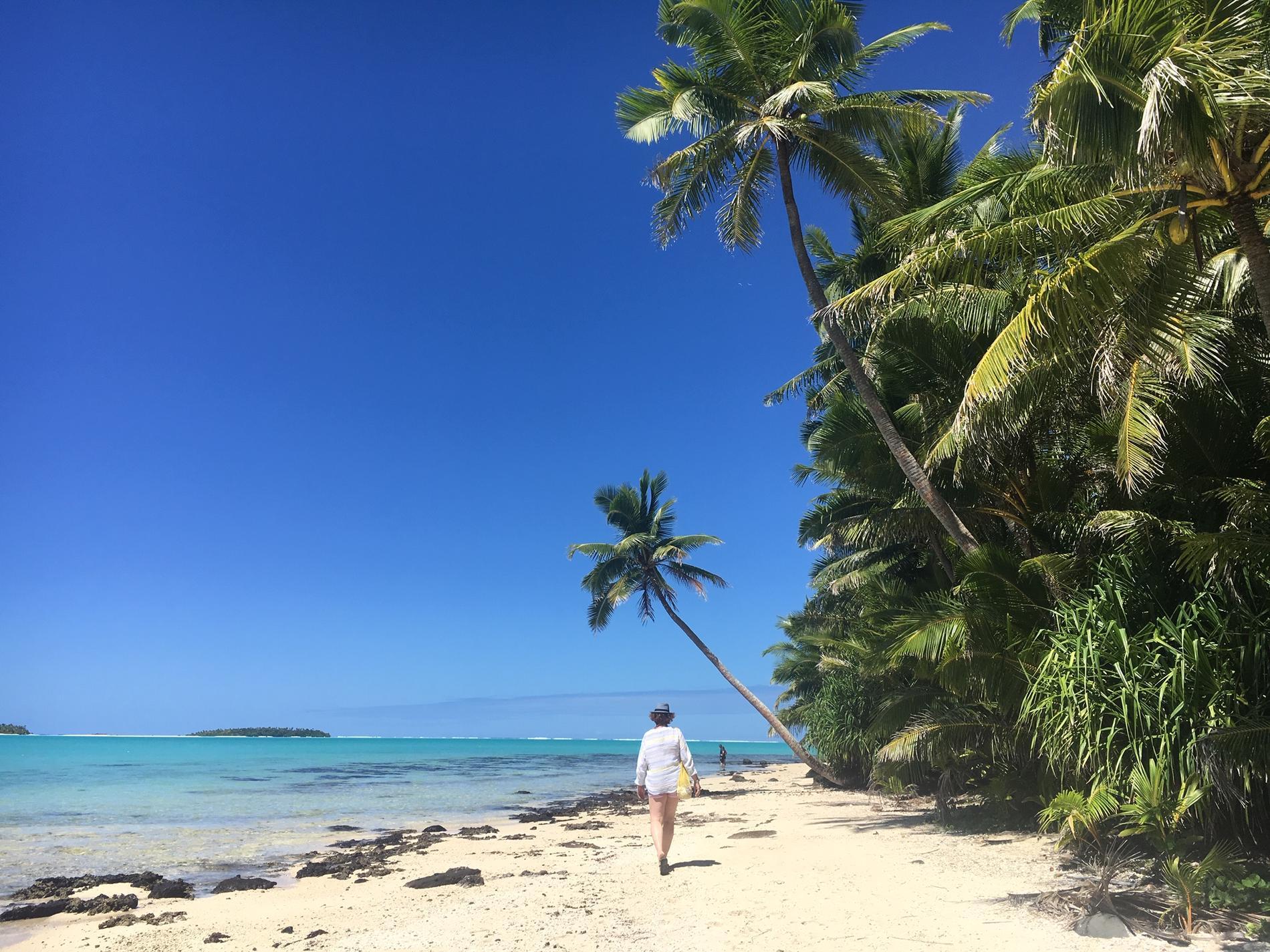 Lena Petersson kände sig som en äventyrare på Cooköarna.