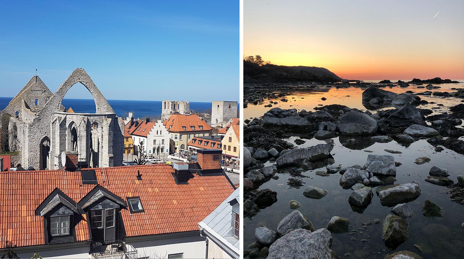 Årets torg och årets solnedgång.
