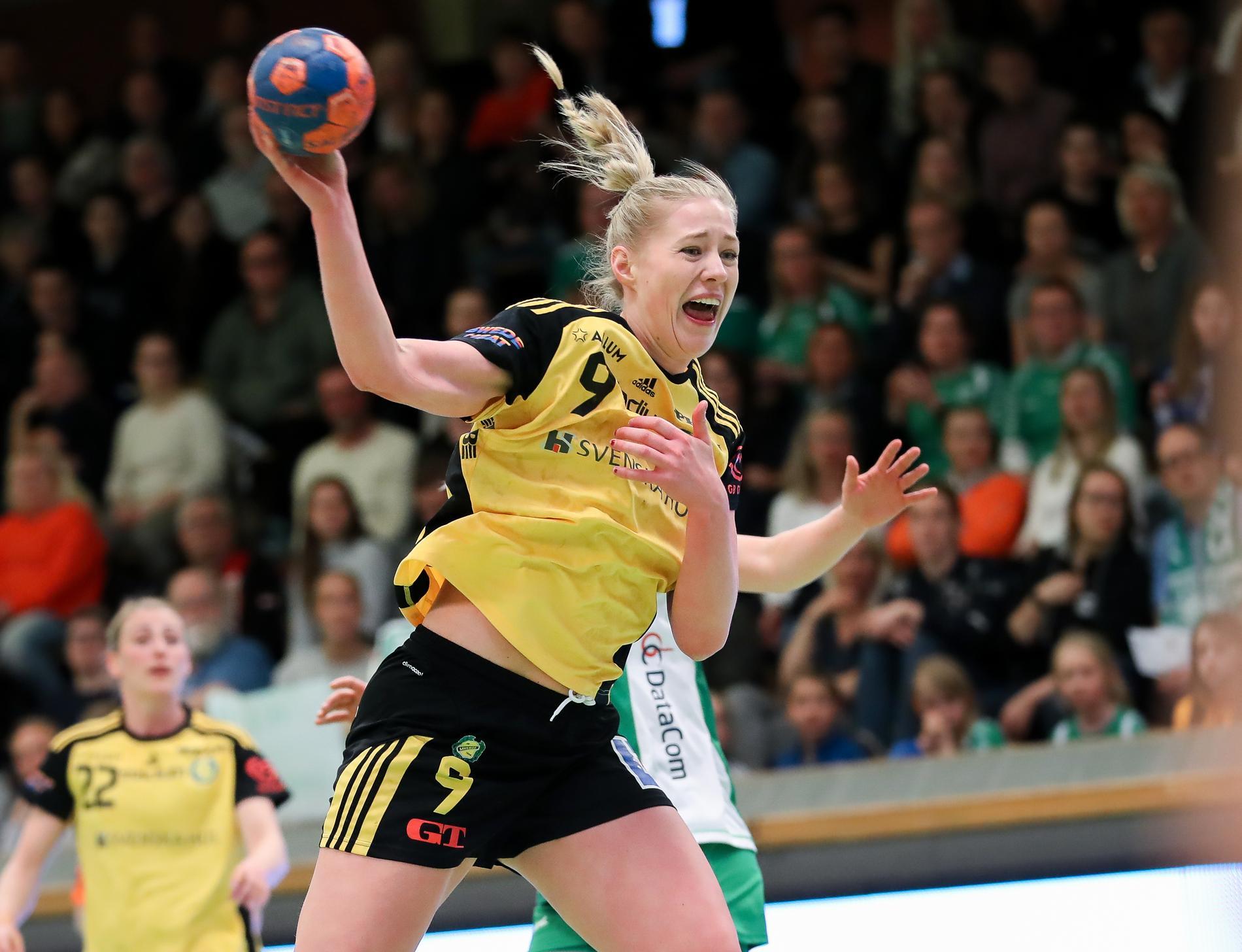 Julia Eriksson avslutar karriären på grund av en ryggskada. Arkivbild.