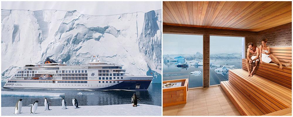 Hanseatic Inspiration kommer att kryssa i Arktis och Antarktis.