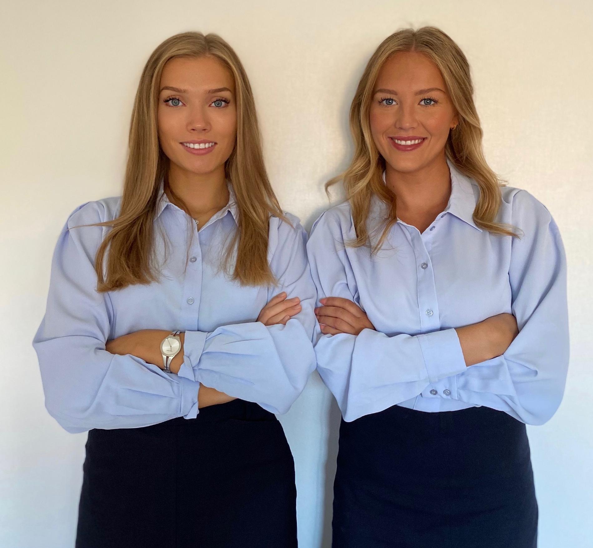 Lova Svensson, 21 och Amanda Mattsson, 21.