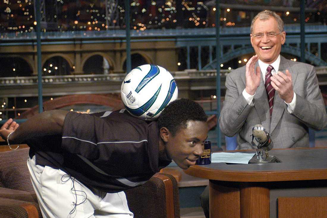 Adu hos David Letterman.