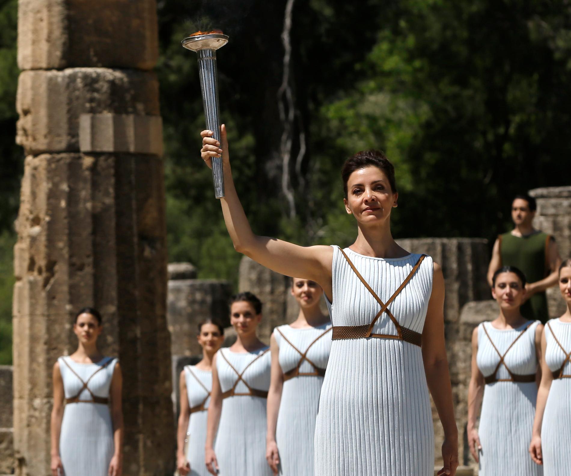 Olympia är de olympiska spelens hem. Här bilder från en tidigare eldceremoni i byn.