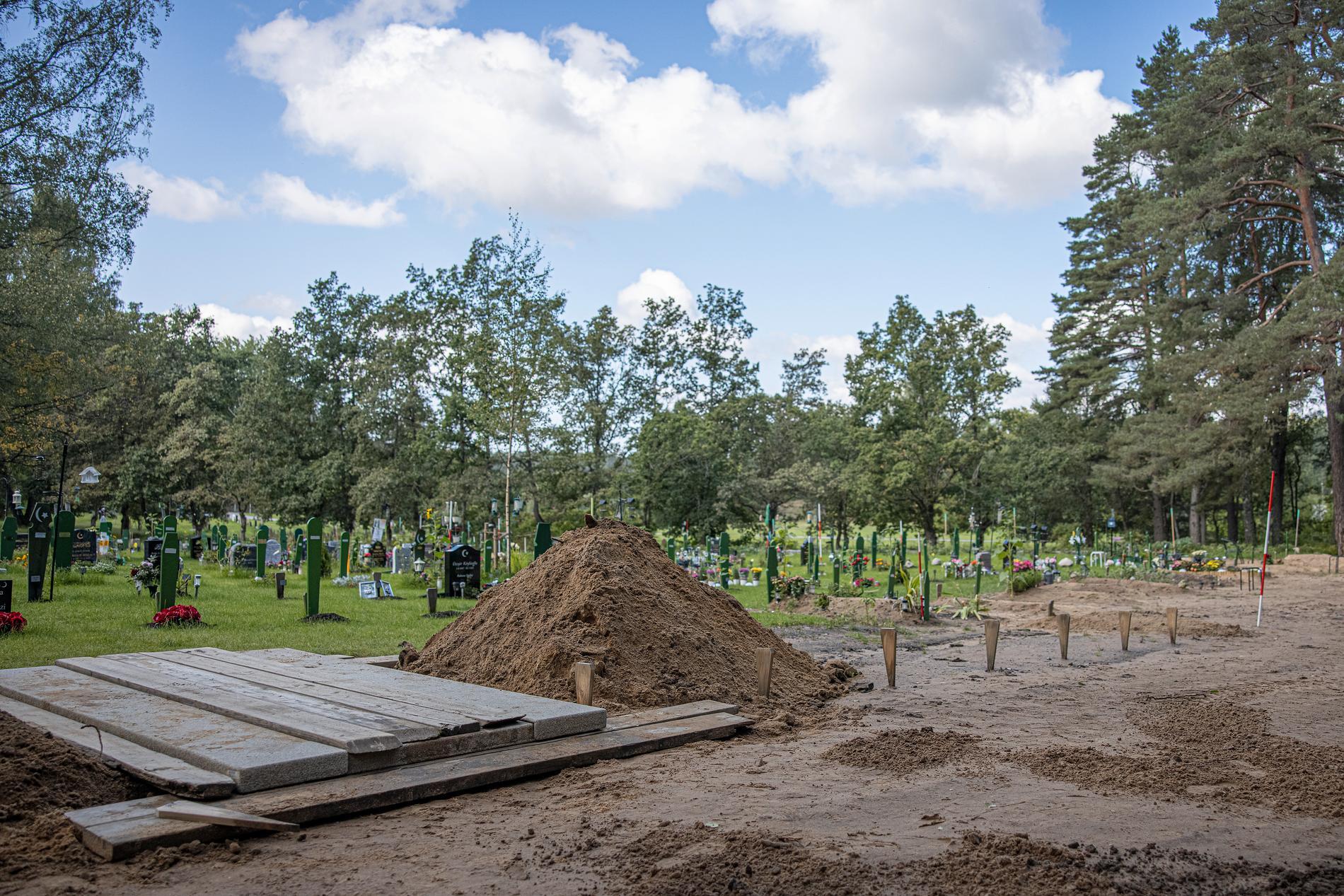 Muslimska begravningsplatsen.