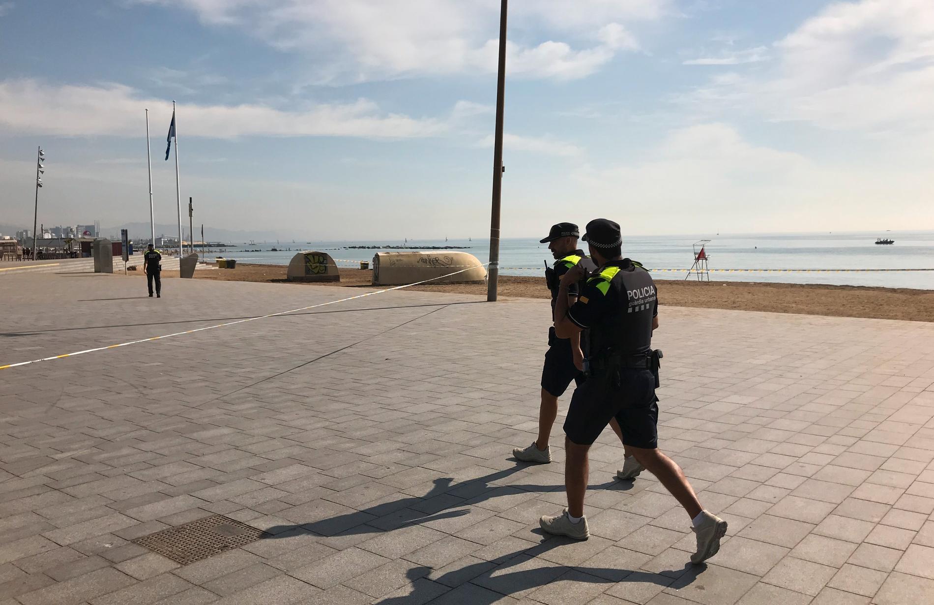 En av Barcelonas stränder evakuerades i augusti på grund av att en bomb från det spanska inbördeskriget hittats. På onsdagen hittades ytterligare en bomb från samma tidsperiod under bygget av en nöjespark utanför Toledo. Arkivbild.