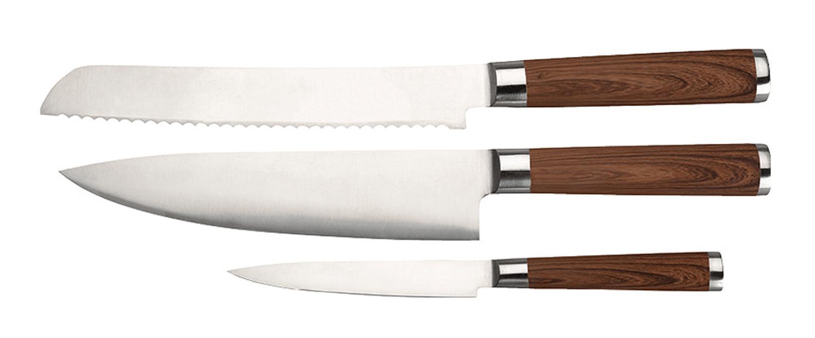 Knivset med snyggt mönster.