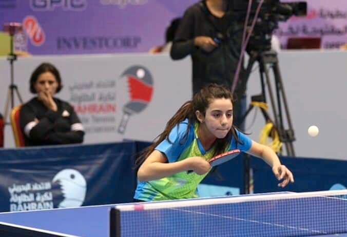 Hend Zaza är Syriens första bordtennisspelare som lyckats kvala in till ett OS. Arkivbild.