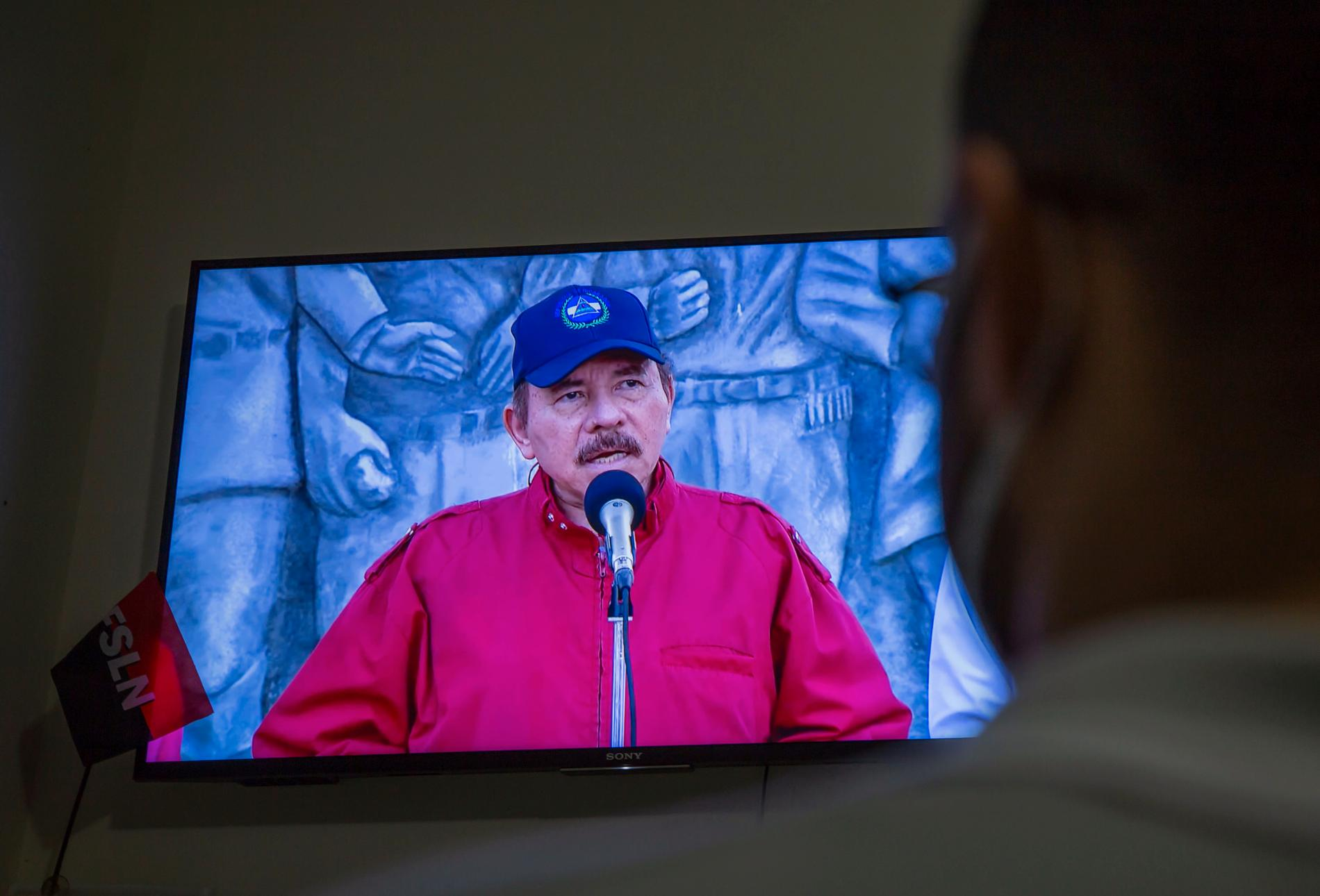 Venezuelas president Daniel Ortega har formellt utsetts till regeringspartiet FSLN presidentkandidat i nästa val. Arkivbild.