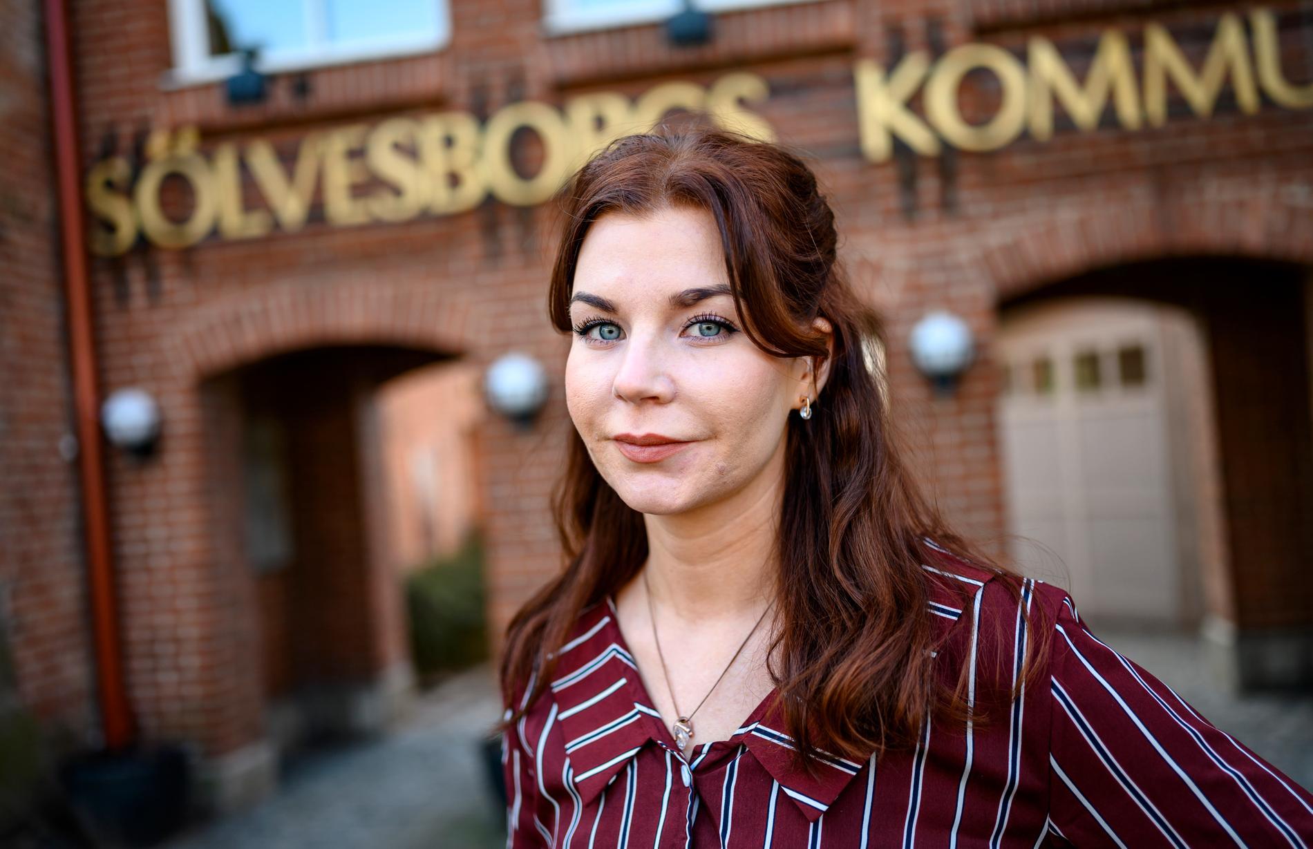 Louise Erixon (SD), är sedan förra hösten kommunalråd  SÖlvesborg.