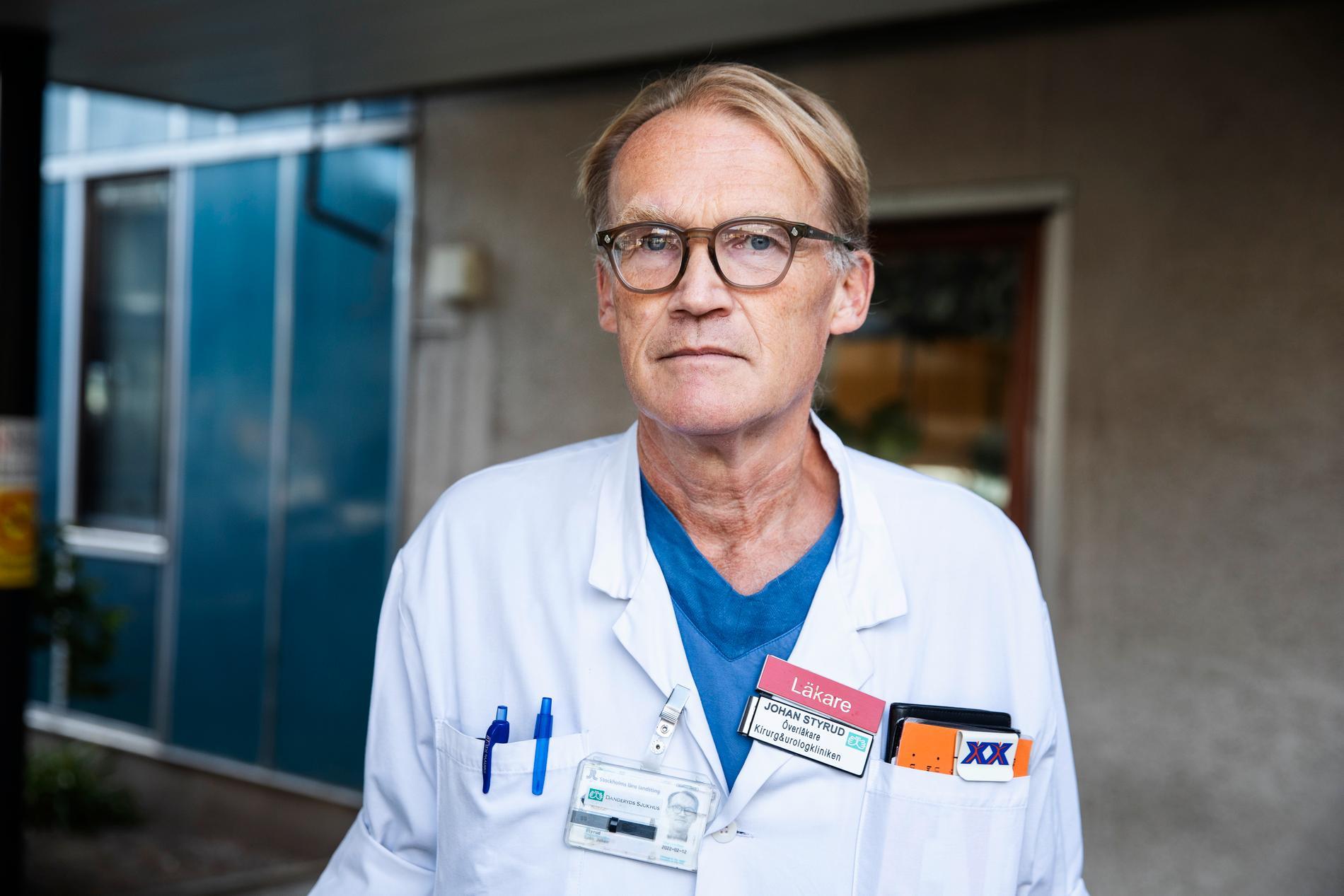 Johan Styrud, överläkare vid Danderyds sjukhus och ordförande i Stockholms läkarförening.