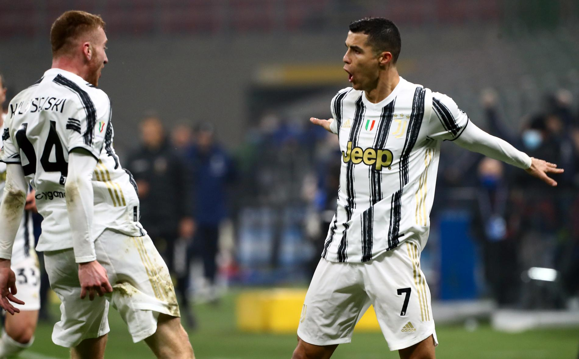 Dejan Kulusevski och Cristiano Ronaldo i Juvenuts.