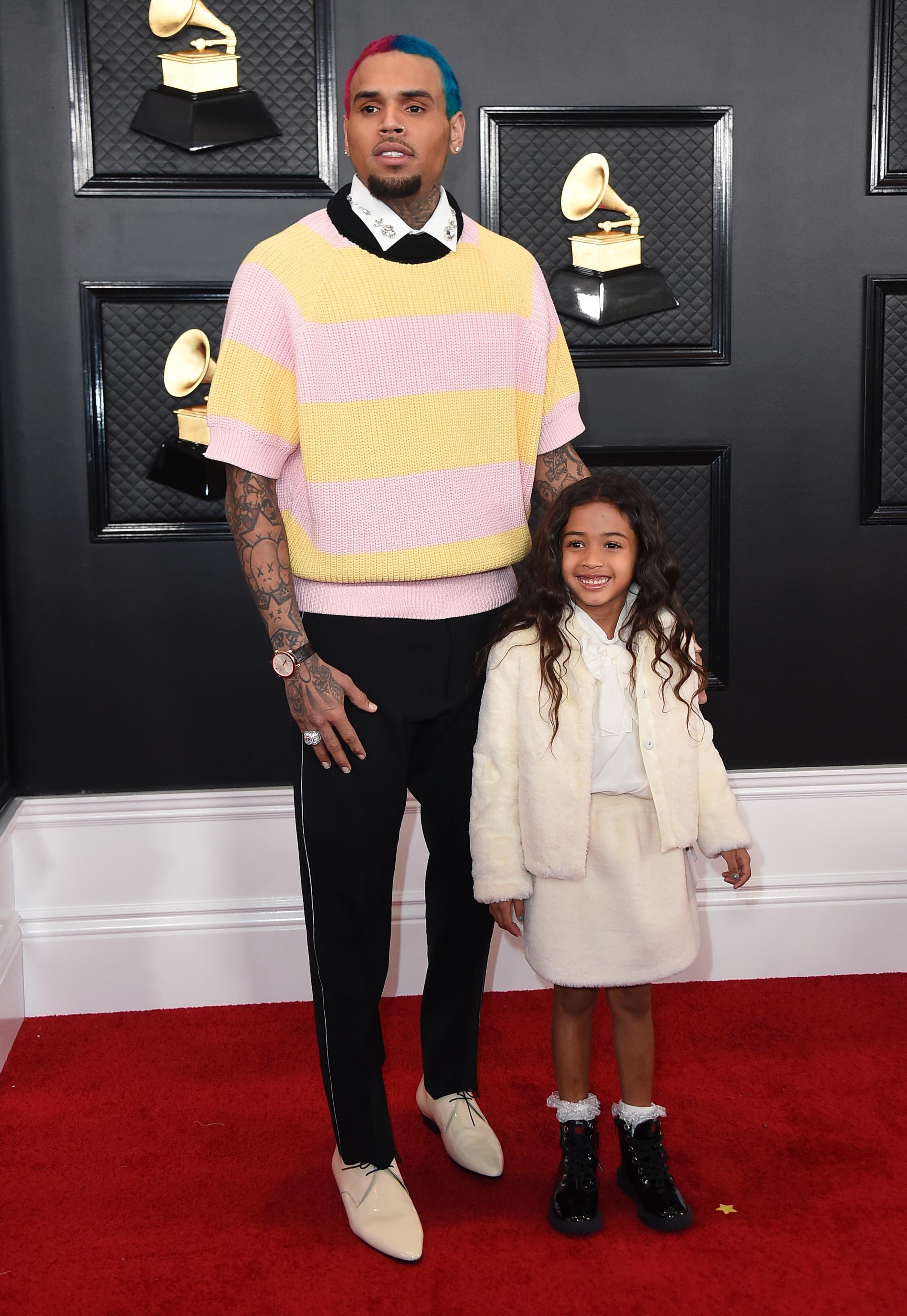 Chris Brown och dottern Royalty.