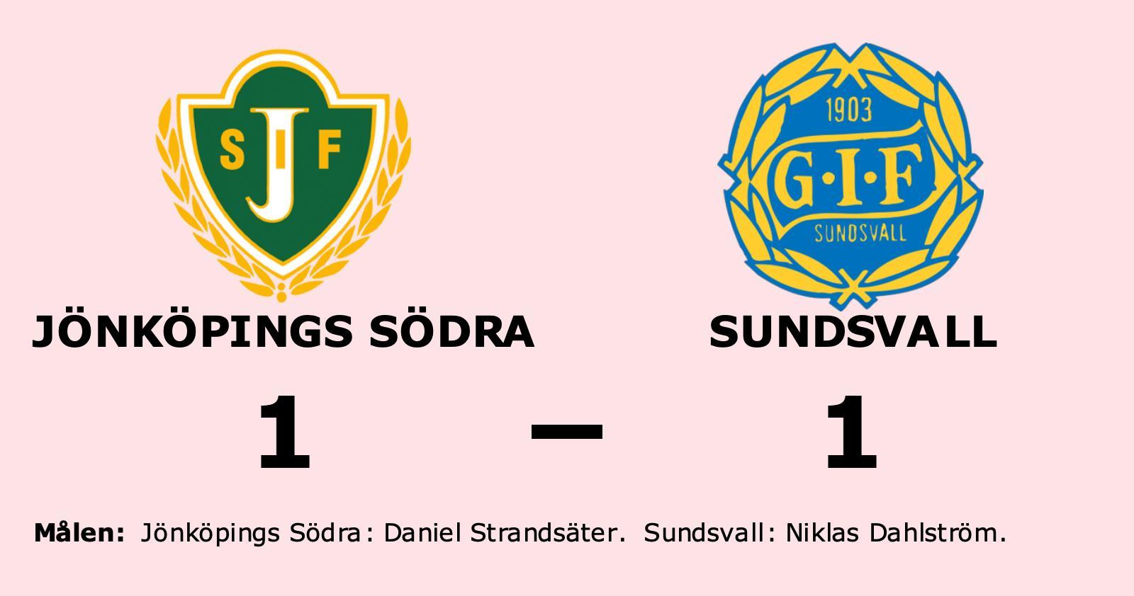 Tungt för Sundsvall - vinstraden bruten mot Jönköpings Södra
