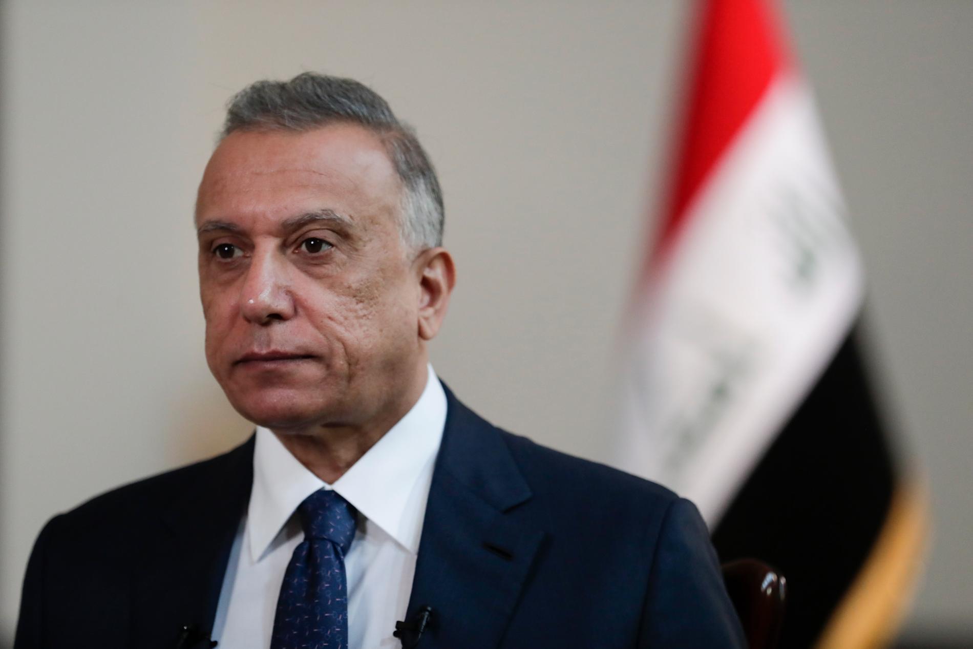 Iraks premiärminister Mustafa al-Kadhimi. Arkivbild.