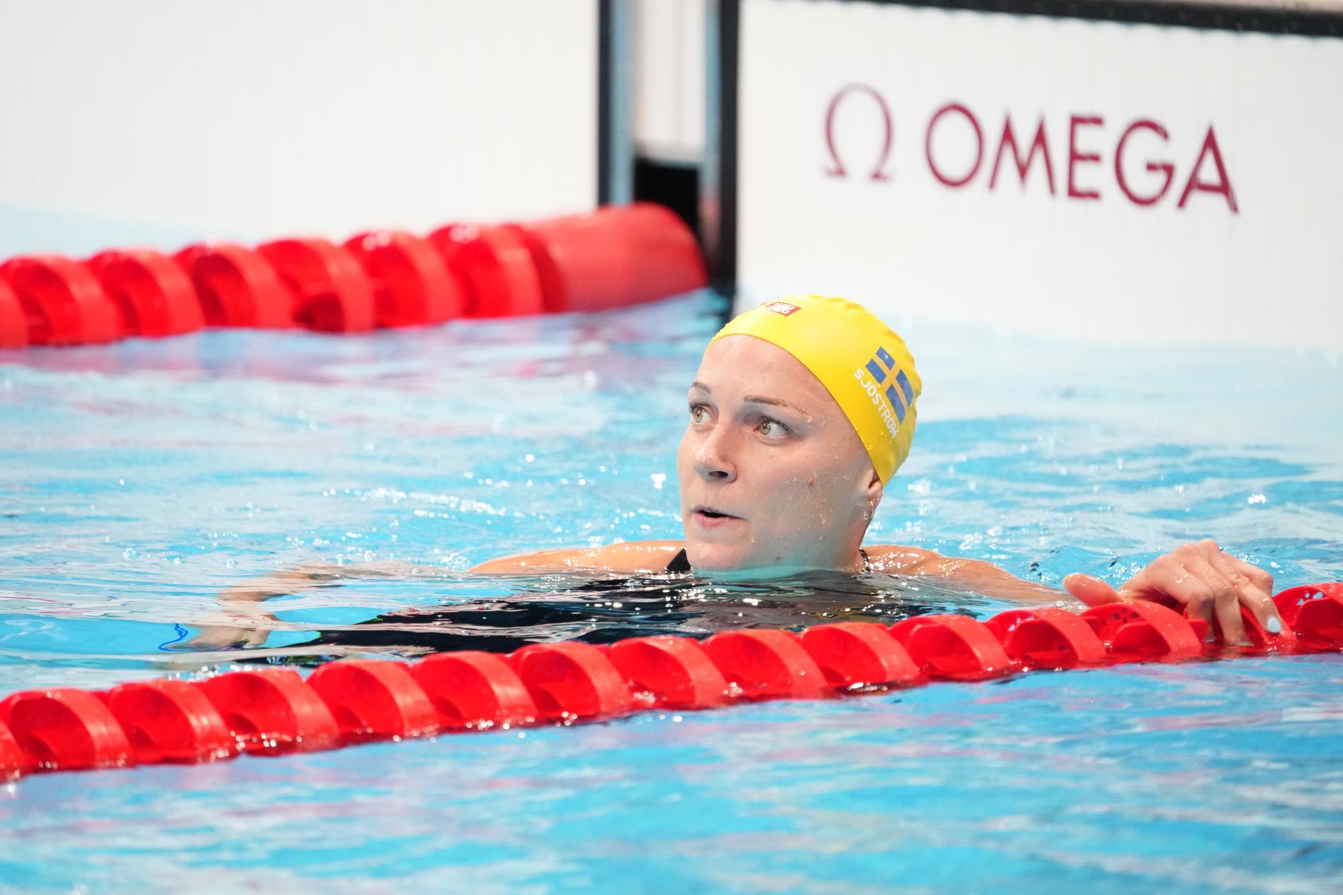 Sarah Sjöström missade pallen på 100 meter frisim.