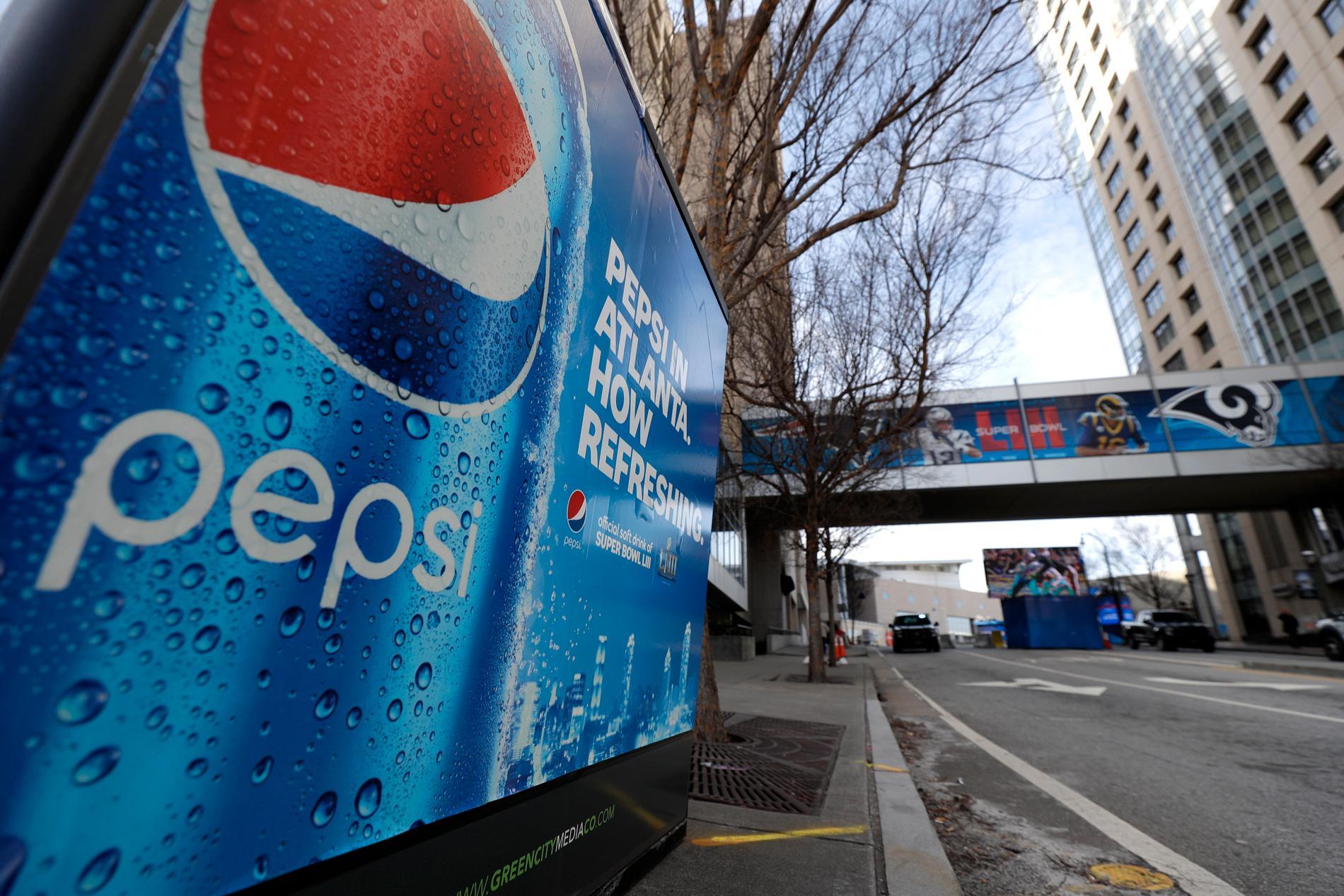 Pepsico redovisade ett bättre resultat och en bättre nettoomsättning än väntat. Arkivbild.