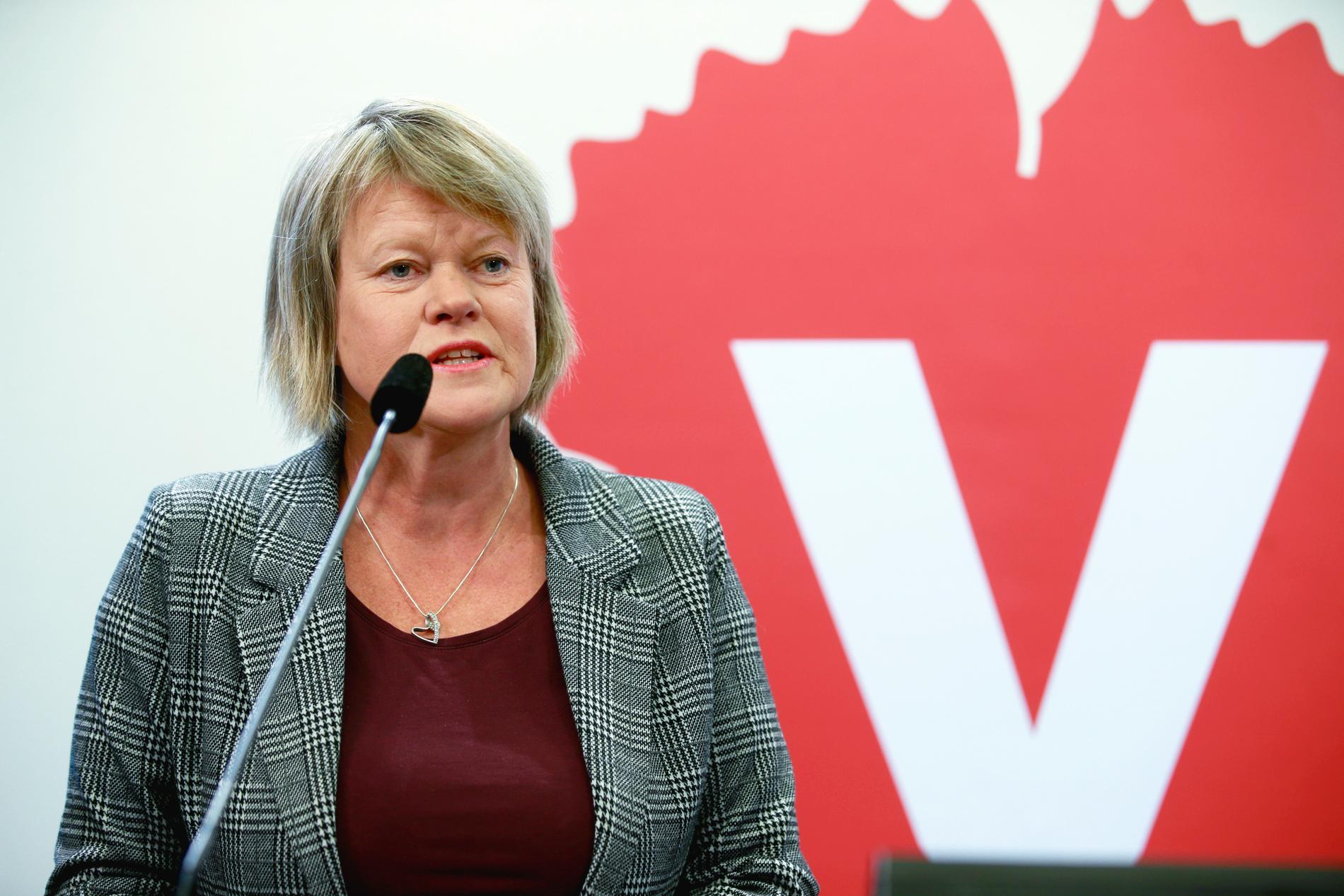 Vänsterpartiets ekonomipolitiska talesperson Ulla Andersson. Arkivbild.