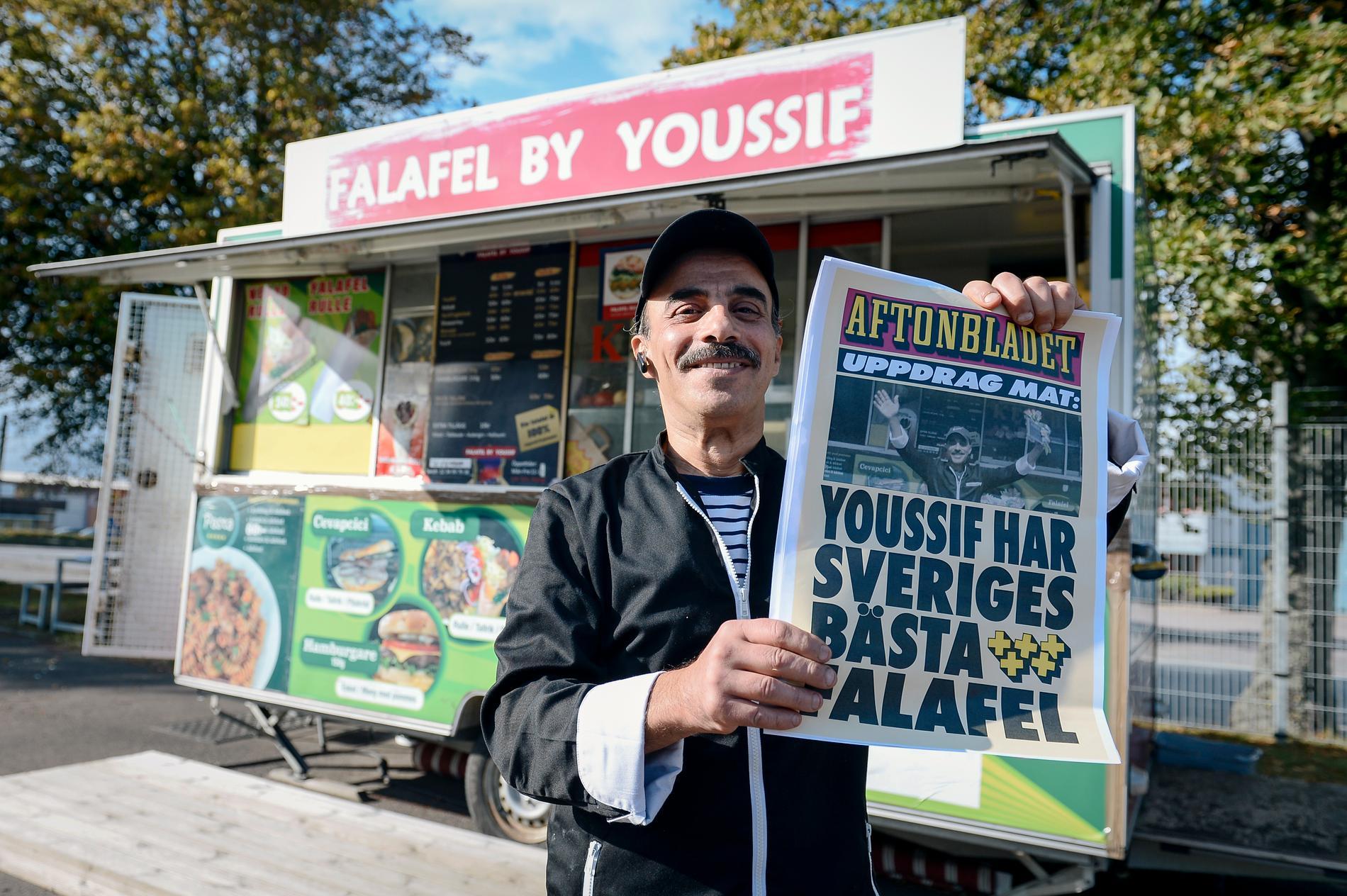 Youssifs falafel har blivit utsedd till landets bästa.