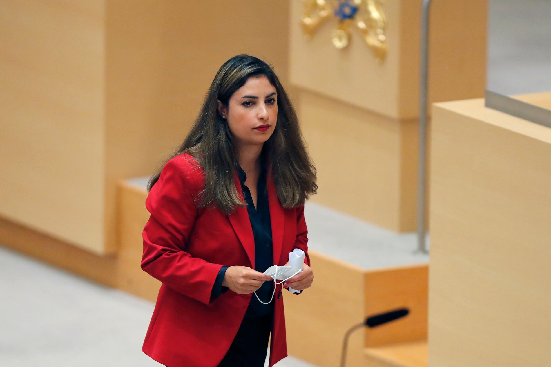 Vänsterpartiets partiledare Nooshi Dadgostar.