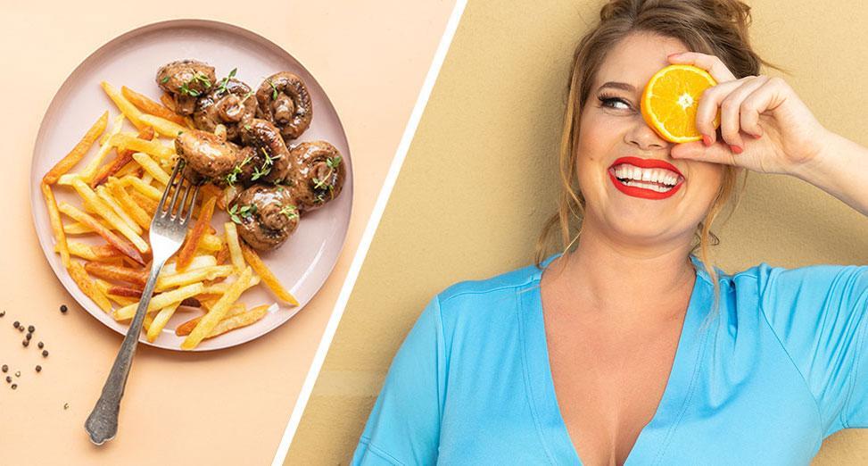 Jessica Frej lagar bäst mat när hon är hungrig.