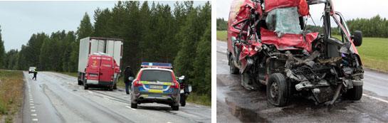 Dödsolyckan på E10 utanför Överkalix.