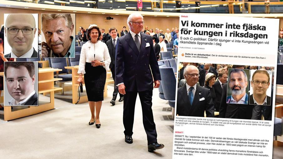 Få delar av den konstitutionella grunden för vårt samhälle torde bekräftas av riksdagen, folkets valda företrädare, så pass ofta som monarkin gör. Replik från Erik Ottoson, Patrik Åkesson och Leo Pierini.