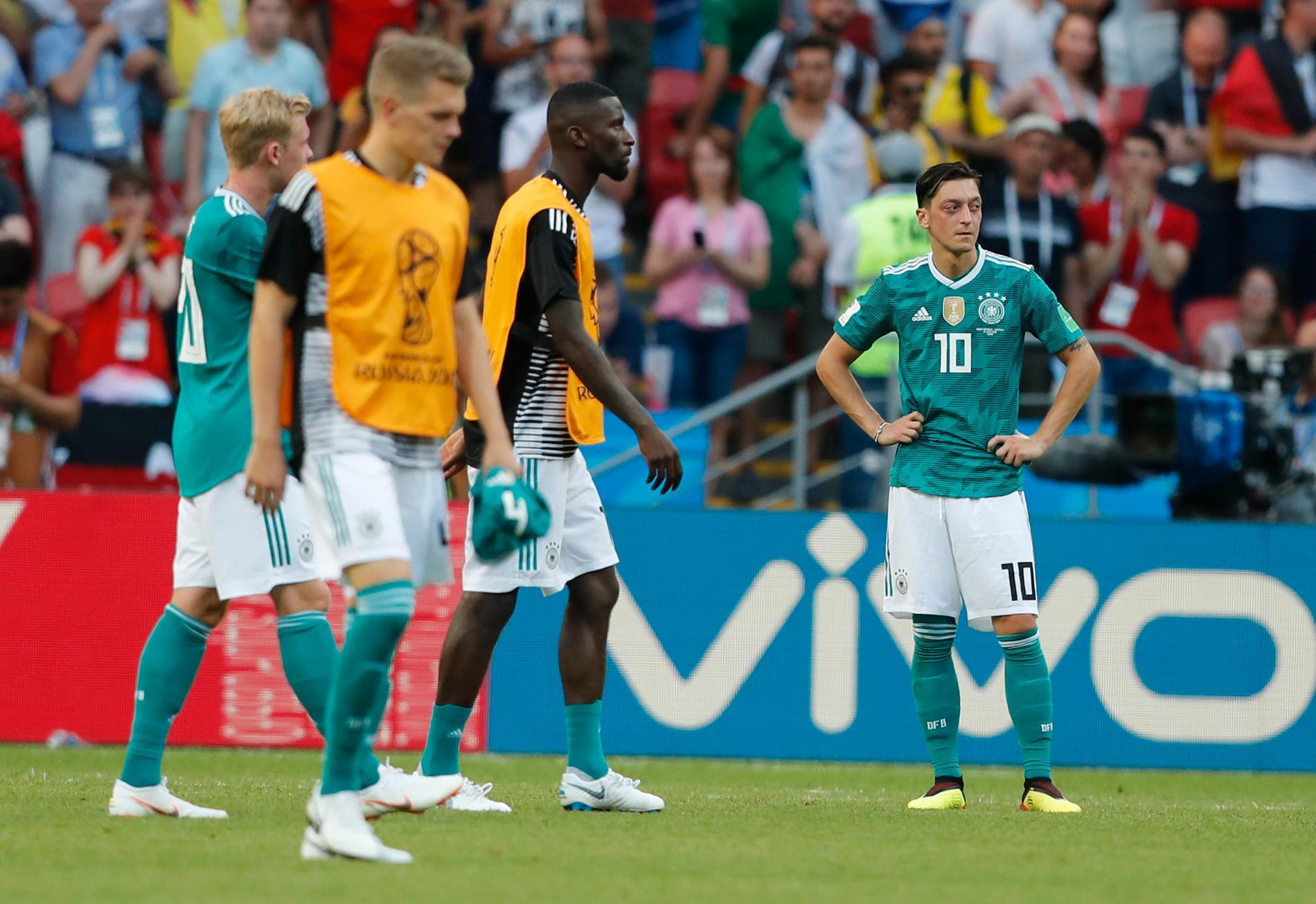 Den avslutande gruppspelsmatchen mot Sydkorea i VM 2018 blev Özils sista landskamp.