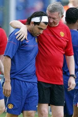 oense? Låter Alex Ferguson Carlos Tevez spela i kväll?