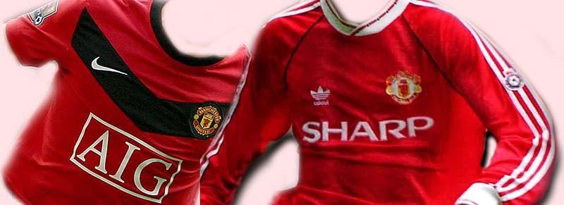nu och då Här är Manchester United hemmatröja 2009 och 1992. Vilken är snyggast? Sportchansen har jämfört tio storklubbars hemmamode på 1990-talet med dagens i ett bildspel.