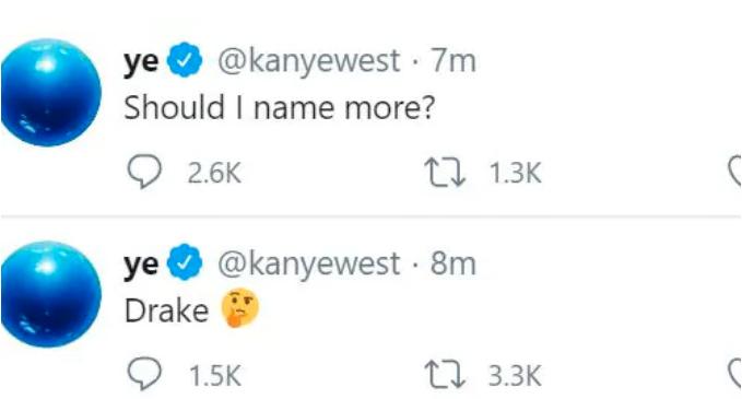Wests borttagna Twitterinlägg.