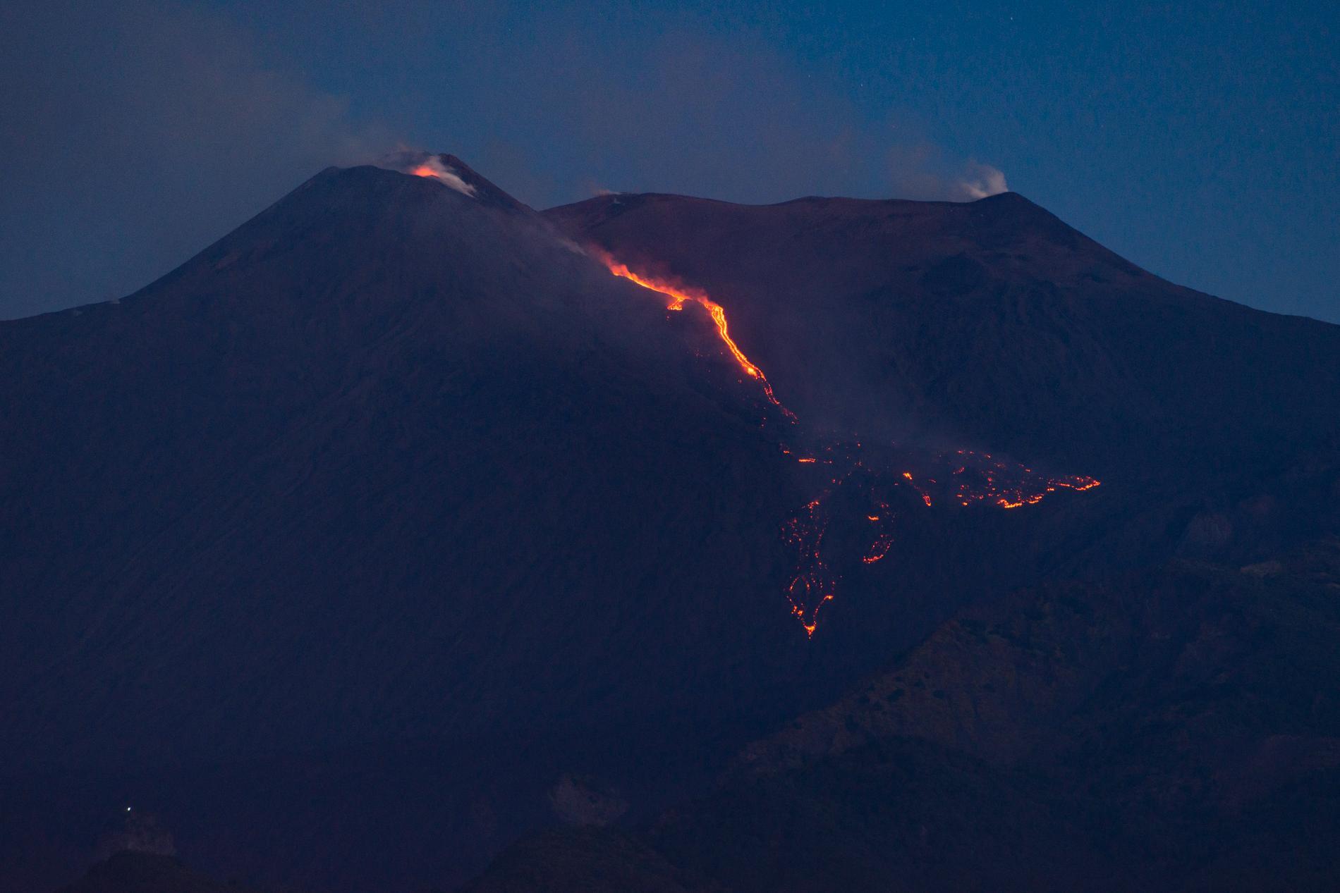 Vulkanutbrottet på Etna.