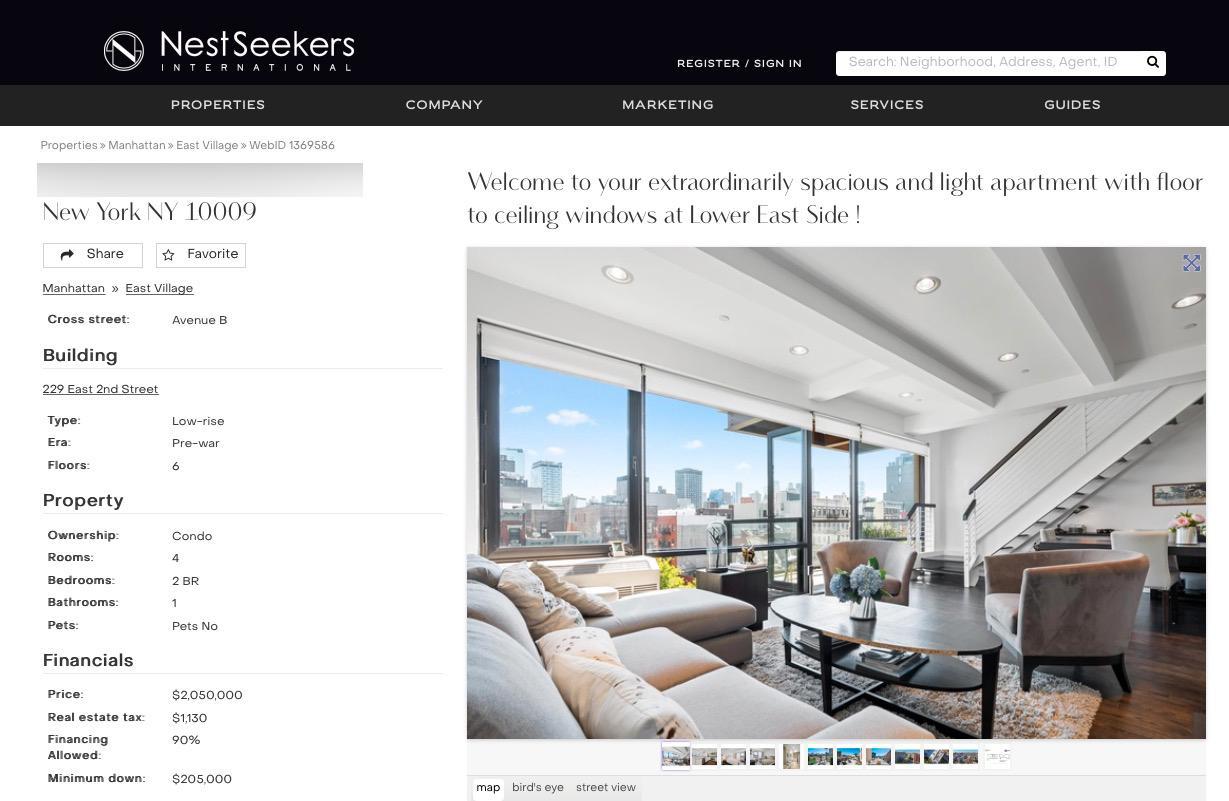 Eva och Efvas takvåning ligger till försäljning hos flera New York-mäklare