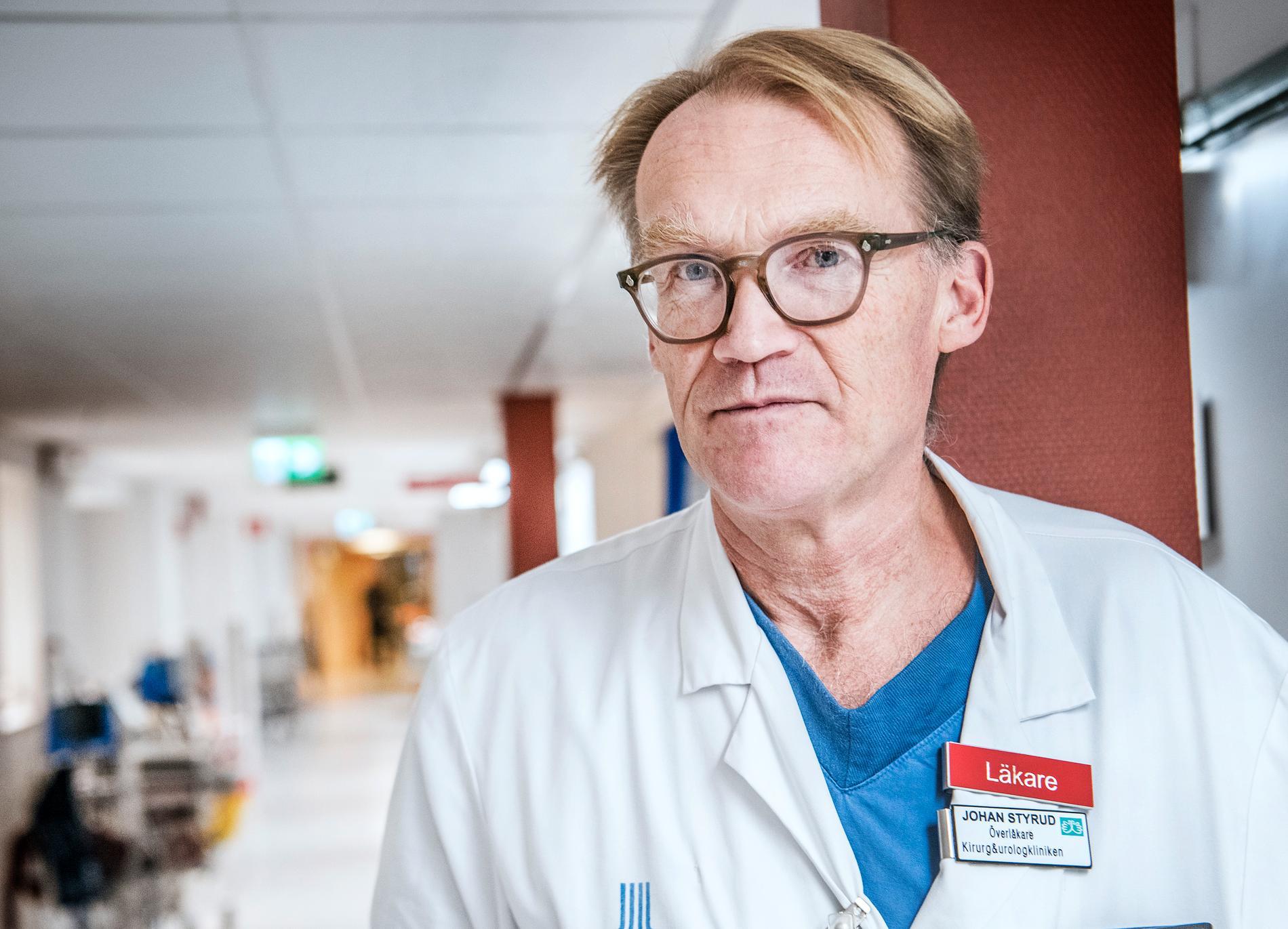 Johan Styrud, ordförande för läkarföreningen i Stockholm.
