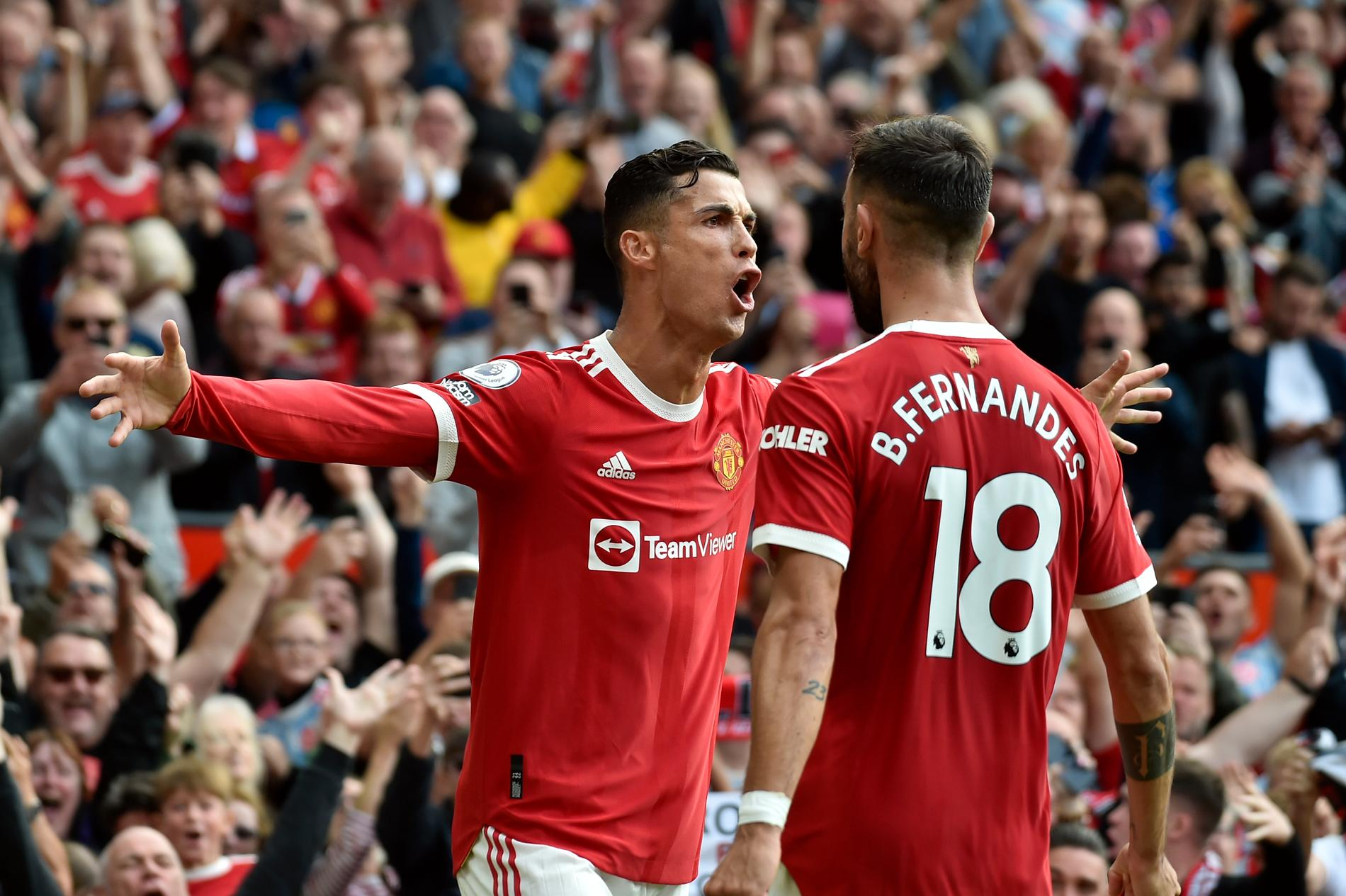 Ronaldo gjorde mål direkt för United.