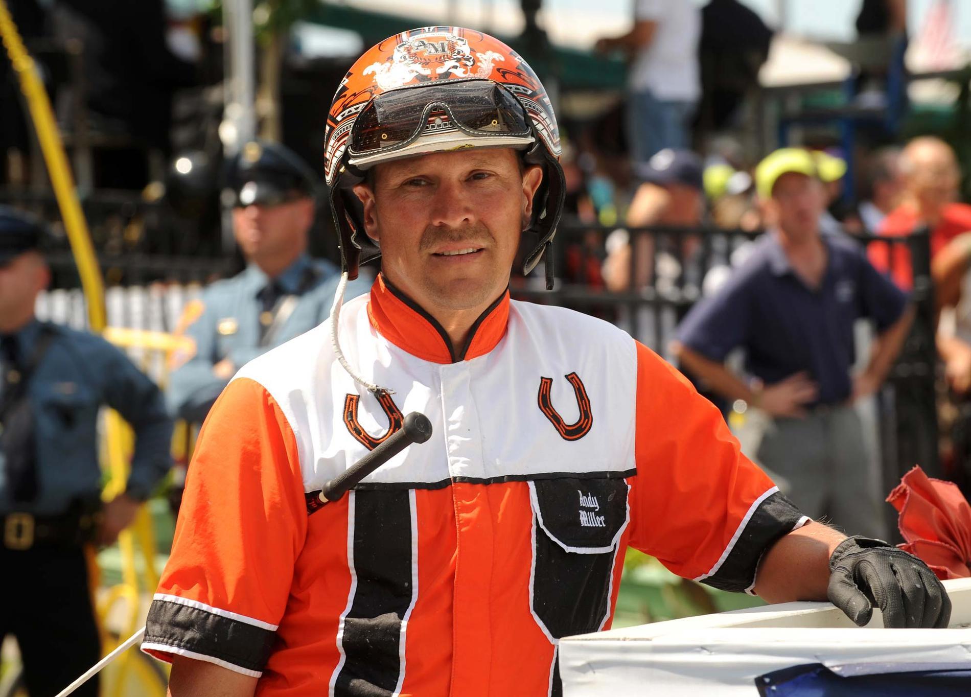 Den amerikanske stjärnkusken Andy Miller startade i Elitloppet 2010 med hästen Lucky Jim.