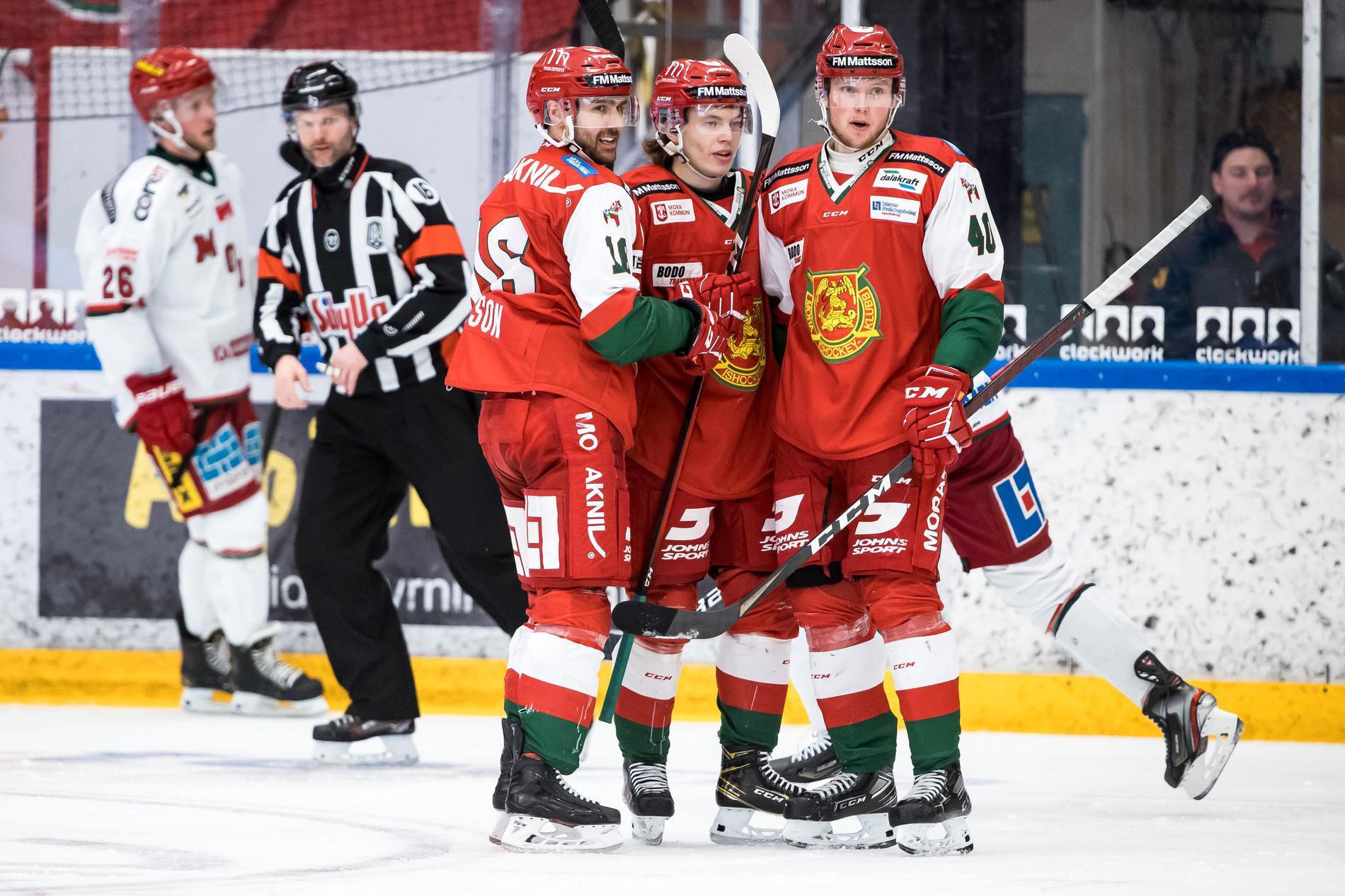 Ludvig Larsson (vänster) är glödhet för sitt Mora.