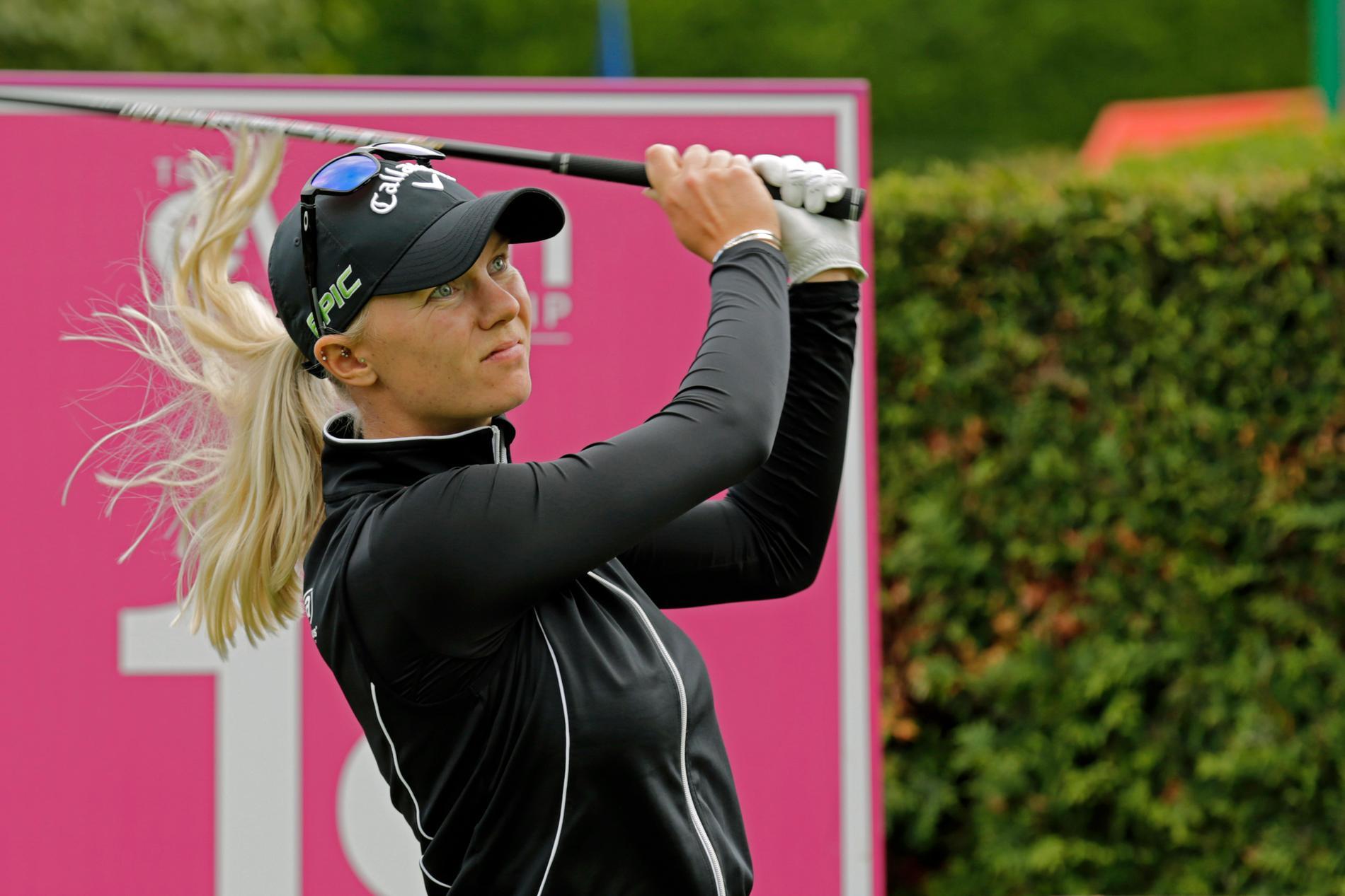 Golfstjärnan Madelene Sagström utnyttjades sexuellt som barn. Hon hoppas att hennes berättelse kan hjälpa andra. Arkivbild.