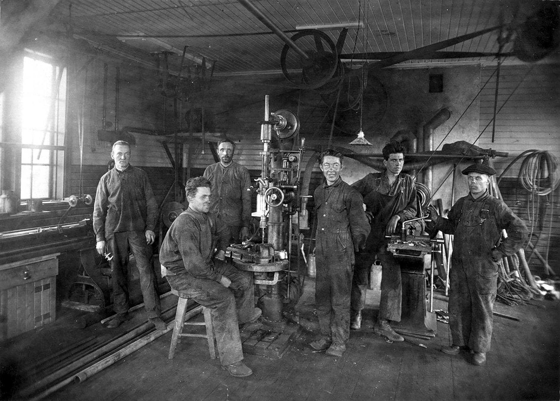 Bolidens verkstad 1926.