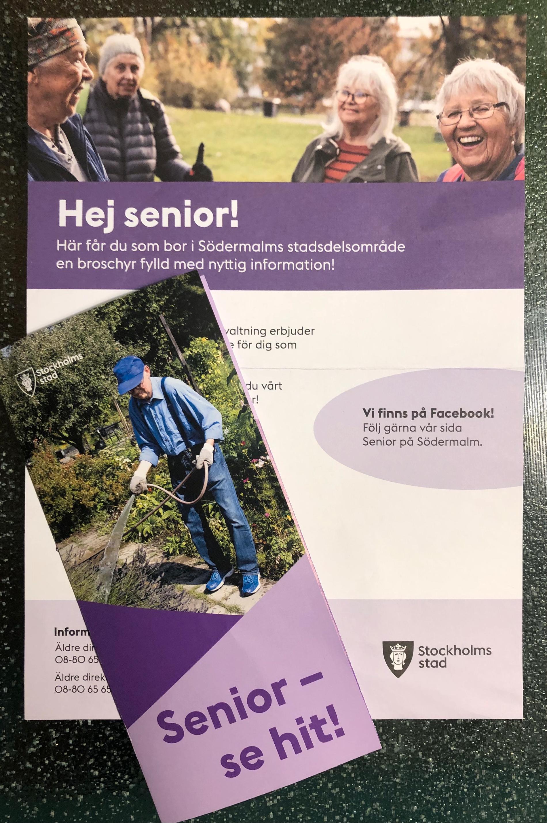I detta utskick till alla 65-plussare på Södermalm i Stockholm blir den svenska ålderismen tydlig. Undrar vad Lars Vilks hade tyckt om att få det här i brevlådan?