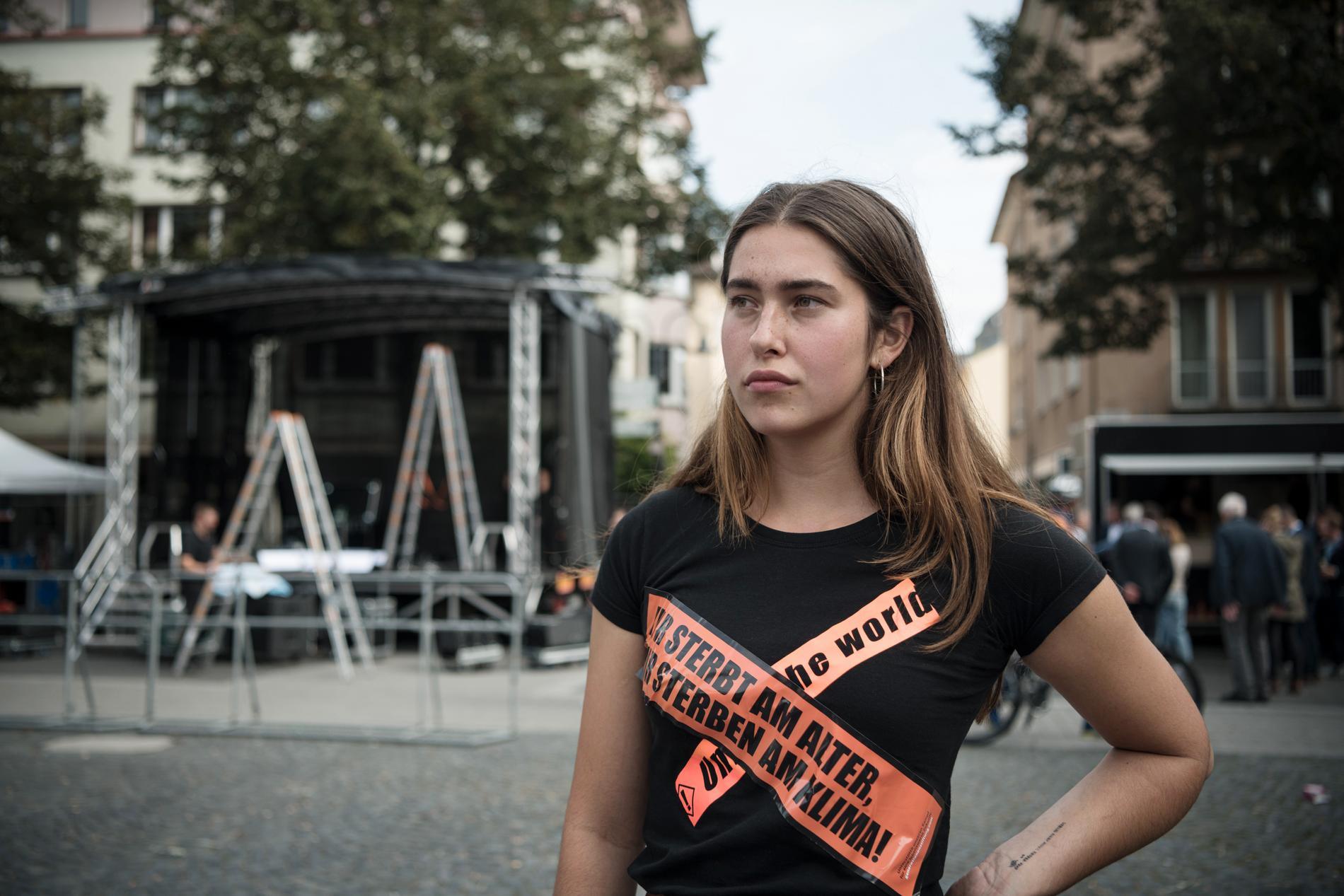 Rifka Lamprecht, 20, tror inte på Laschets löften om att CDU på allvar ska ta itu med klimatfrågan.