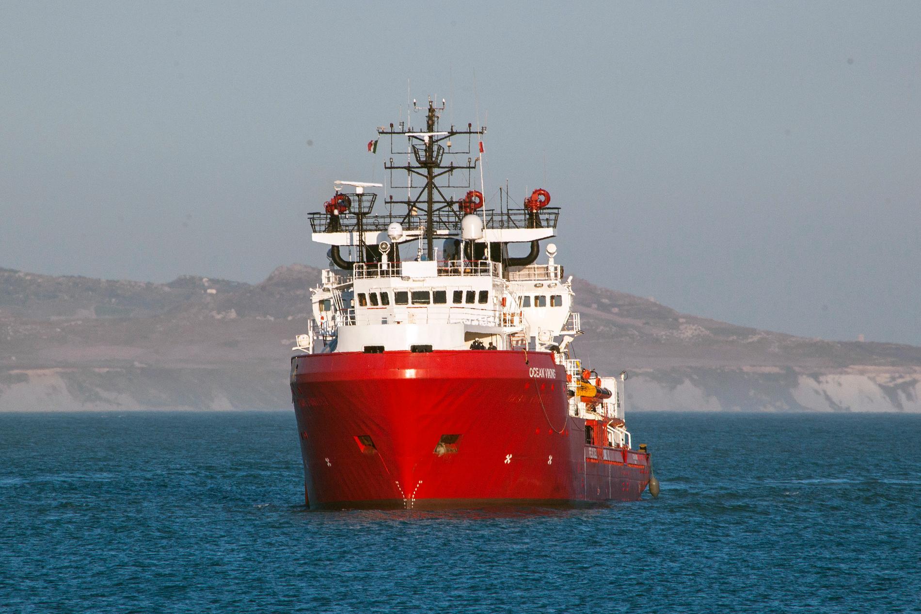 Räddningsbåten Ocean Viking tillhör den franska hjälporganisationen SOS Mediterranée. Arkivbild.