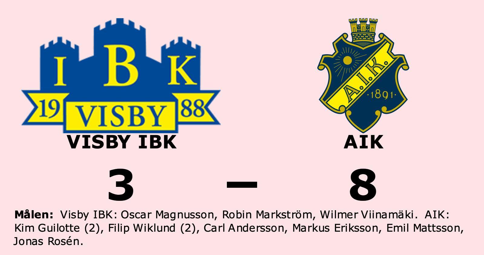 Utklassning när AIK besegrade Visby IBK