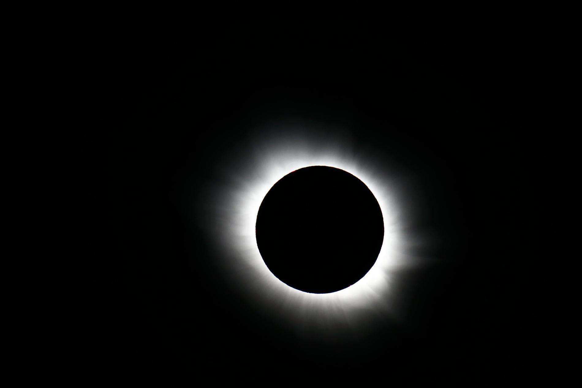 Solförmörkelse sedd från Svalbard 2015.