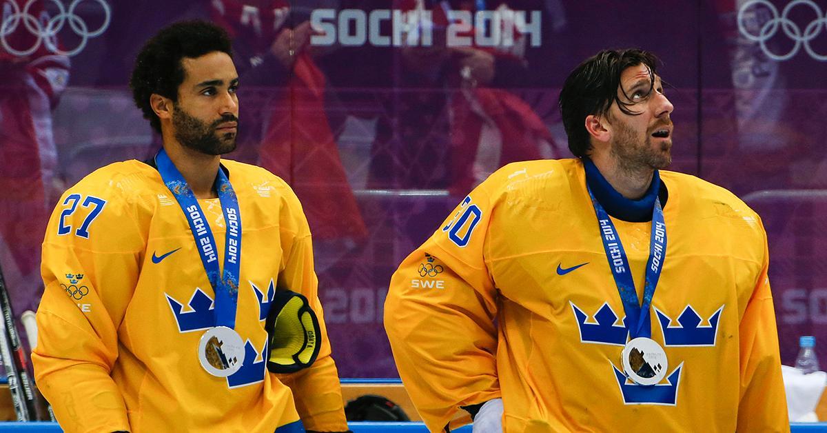 Oduya och Lundqvist efter OS-silvret 2014.