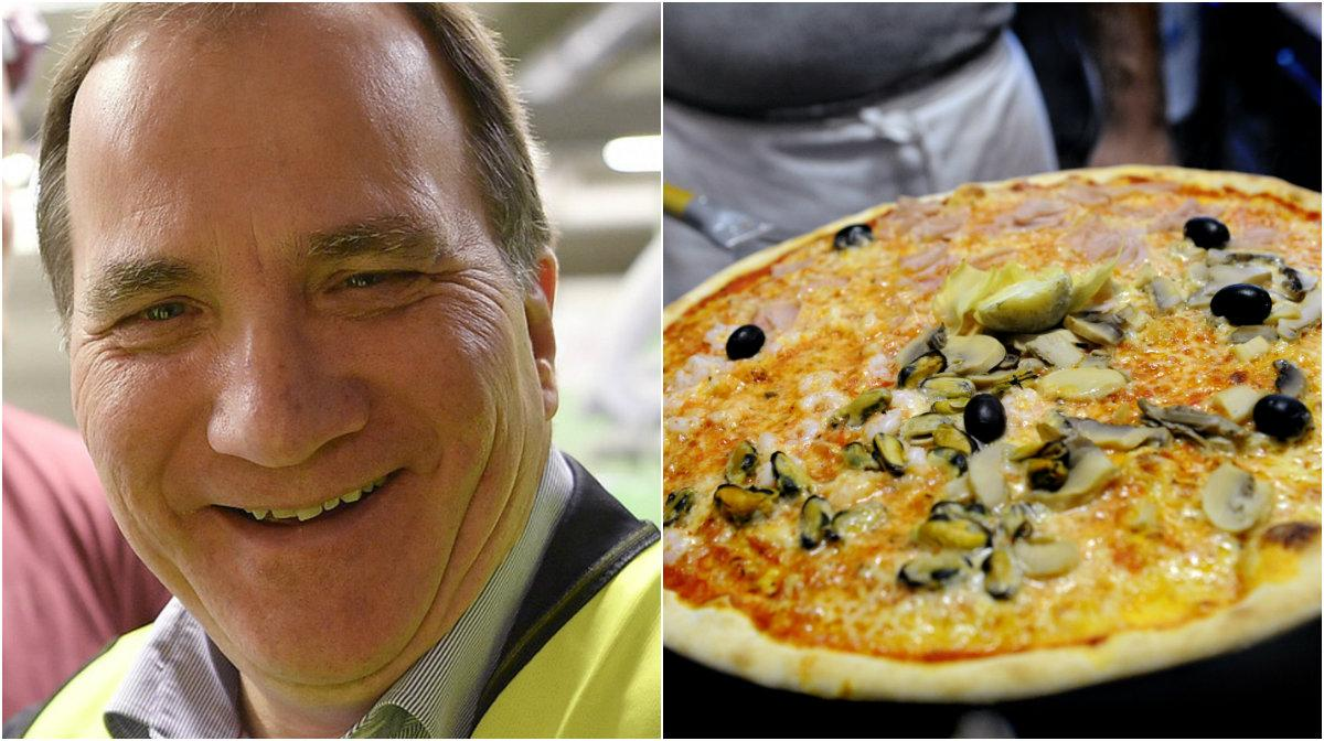 Statsministern har ett knep när han köper hem pizza.