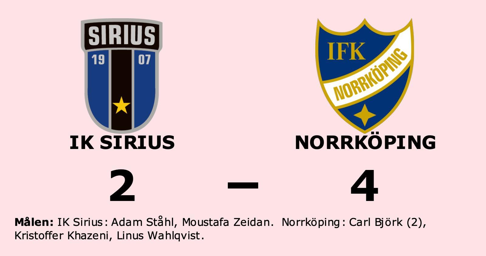 Förlust för IK Sirius hemma mot Norrköping