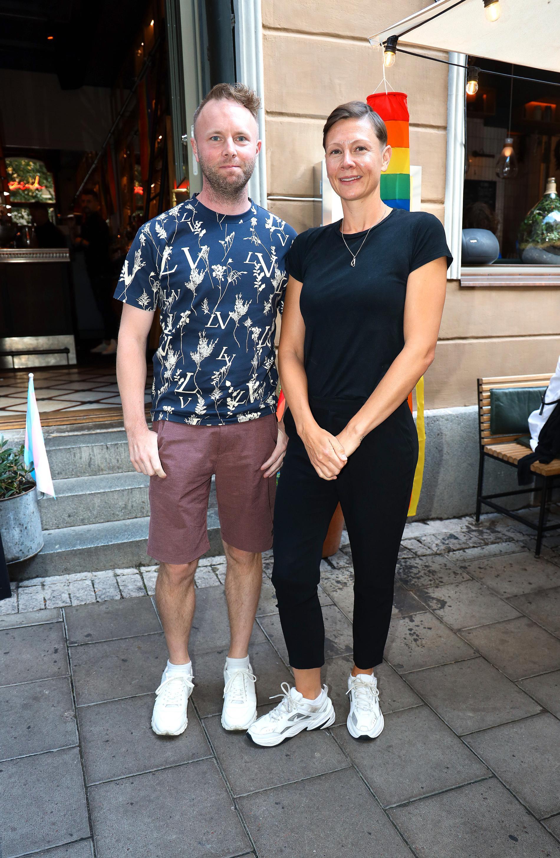 Karin Gunnarsson, tävlingsproducent för Melodifestivalen och Anders Olsson.