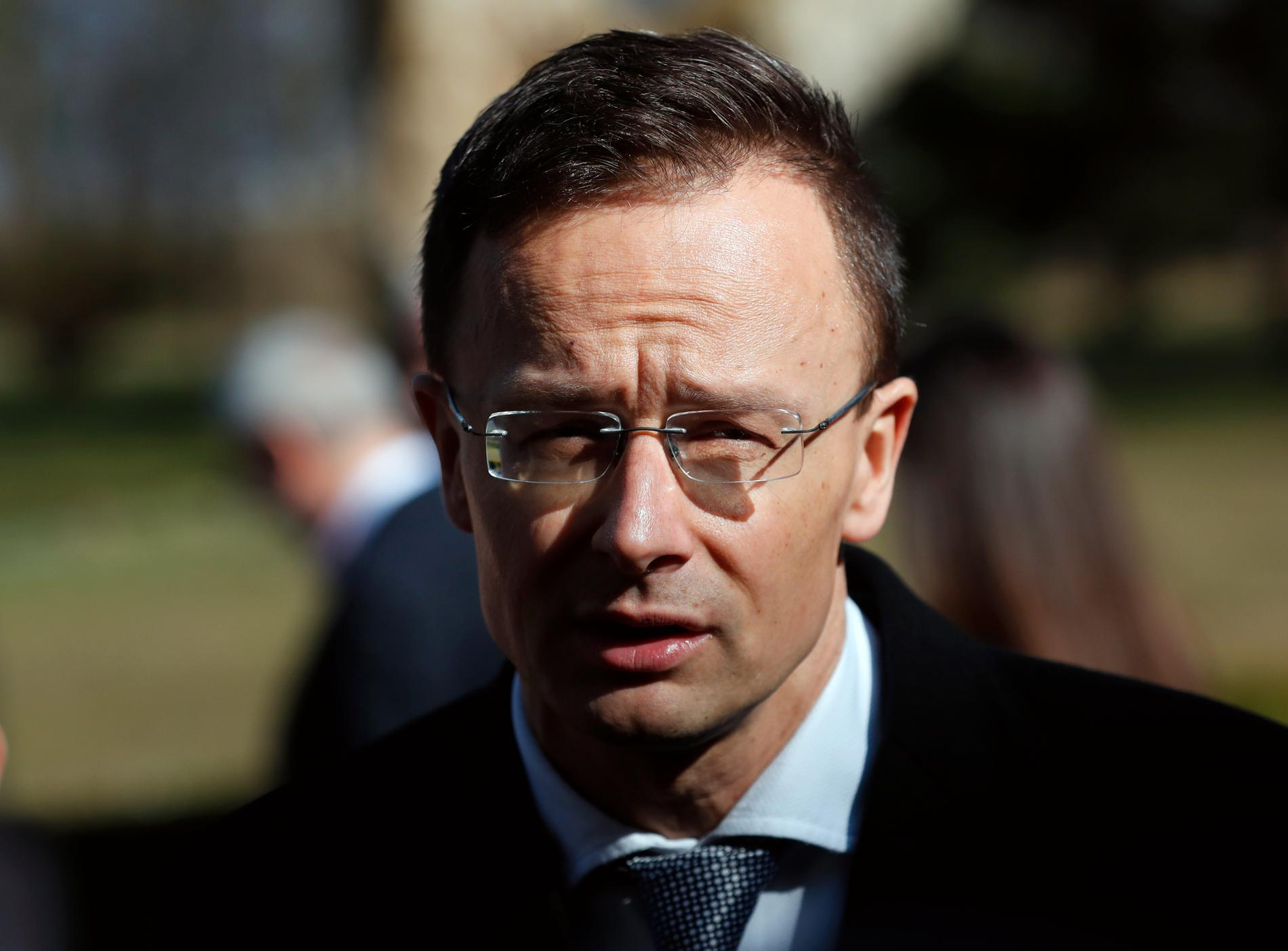 Ungerns utrikesminister Peter Szijjarto. Arkivbild.